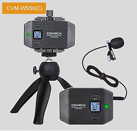 呈現攝影-Comica CVM-WS50 C型 手機/相機兩用麥克風 直播一對一 手機夾麥克風 錄音 收音麥克風