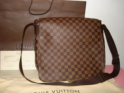 Louis Vuitton LV N45258 棋盤格 信差包/斜背包/郵差包二手真品(近全新)經典款,面交看貨不寄送