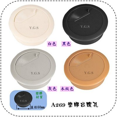 Y.G.S~家具五金系列~ A269塑膠出線孔 60mm (含稅)
