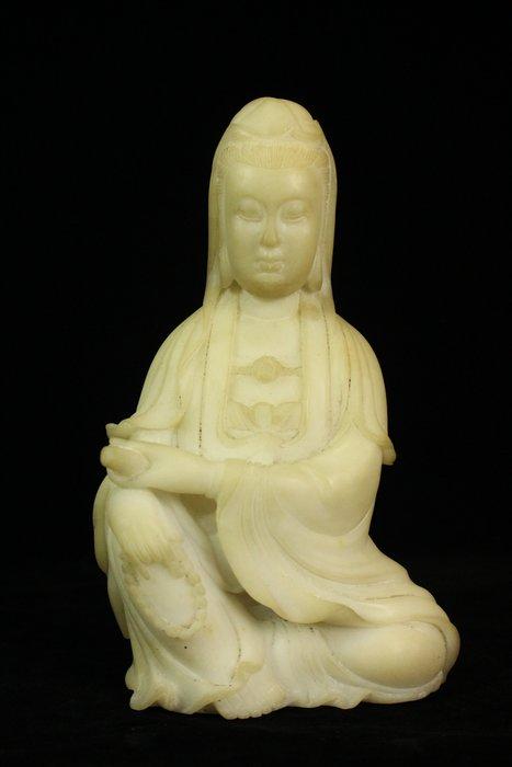 悅年堂 --- 漢白玉 雕 觀音坐像