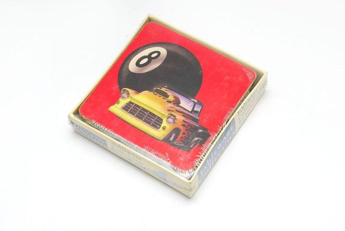 【統一撞球 Billiard Shop】 杯墊 NO.8 組/6片 貨號:95-017