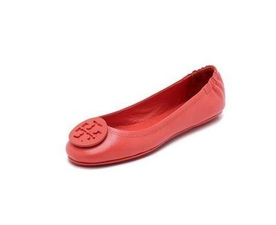 Tory Burch Minnie Travel Ballet Flats 可折疊芭蕾舞平底鞋  Vermillion