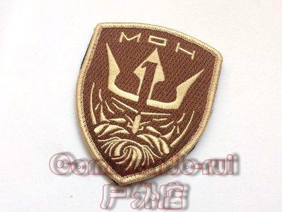 榮譽勛章/Medal of Honor/MOH 海神/Neptune 沙色徽章 魔術貼