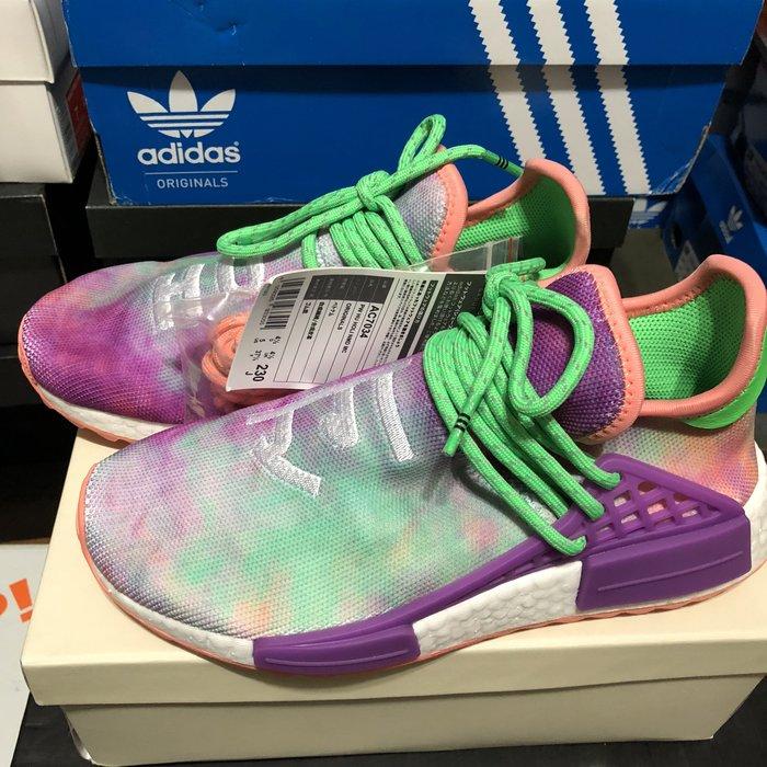 adidas Pharrell Williams NMD 炫彩 綠紫 菲董 AC7034 女段 23cm