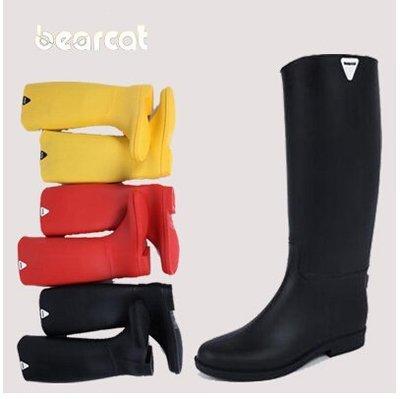 bearcat正品時尚雨鞋女韓國 女士高筒雨鞋雨靴膠鞋防滑防水鞋