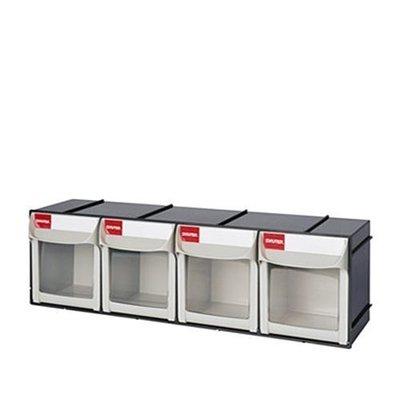 附發票【東北五金】零件盒/工具盒/整理盒收納盒FO-604/零件快取分類盒 零件盒 工具箱《樹德》