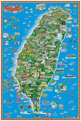 台灣印象地圖 卷軸版 @一張地圖遊遍台灣@ 教學/旅遊/台灣伴手禮