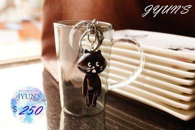 JYUNS 新品雜貨ne-net驚訝貓咪小黑貓掛件黑貓包包掛飾貓咪鑰匙圈吊飾 1款 預購