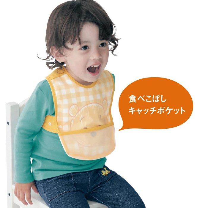 (預購款)日本正品Disney 迪士尼 用餐圍裙 兒童圍兜 圍巾 防髒污 小熊維尼 米奇 米妮 唐老鴨 瑪麗貓