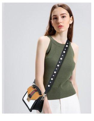 好運來盛夏新款明星同款撞色珍珠包帶單肩斜挎兩用包帶配件帶加長款KK雪兒物語