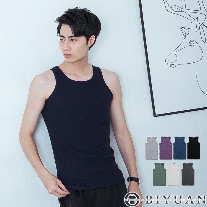 厚織坦克背心【ST001】OBI YUAN 韓版/情侶/貼身板 螺紋平背背心共7色