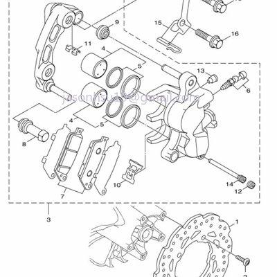 【車輪屋】YAMAHA 山葉原廠零件 FORCE 155 前後輪 卡鉗 碟盤 剎車總泵 周邊相關零件 歡迎詢價