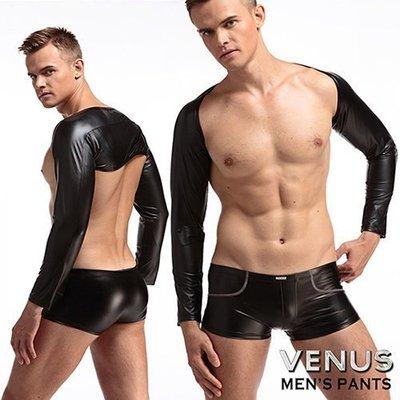 滿千送120ML潤滑液-VENUS SM漆皮緊身護袖運動健身袖套 M5-0005
