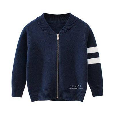 【可愛村】韓系運動風毛衣針織外套 童裝 保暖外套