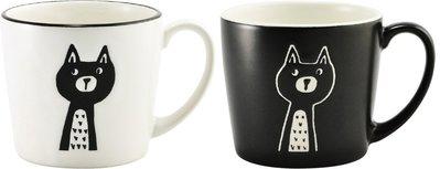 《散步生活雜貨-廚房散步》日本製 Sugar Land-CHIRPY CAT系列 貓咪 310ml 馬克杯-兩色選擇