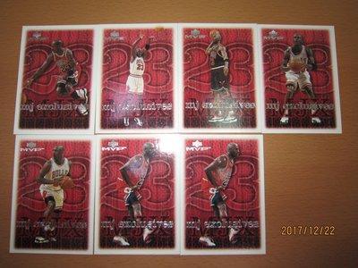 網拍讀賣~Michael Jordan~超級球星~喬丹~MJ~98/99~mj exclusives~近20年歷史~7張