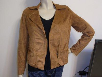 AJ衣飾  美國fifty percent 50% 帥氣拉鍊側開襟細絨面(類麂皮)外套夾克 包2-1