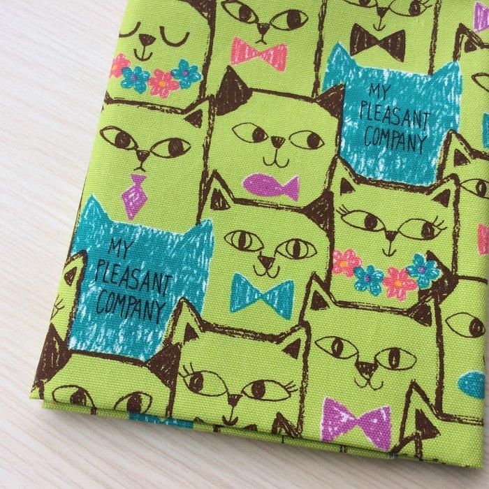 ~樂芙領巾 手作~綠滿圖紳士淑女貓款  薄棉布  嬰兒 兒童三角巾、口水巾、圍兜,可訂製大