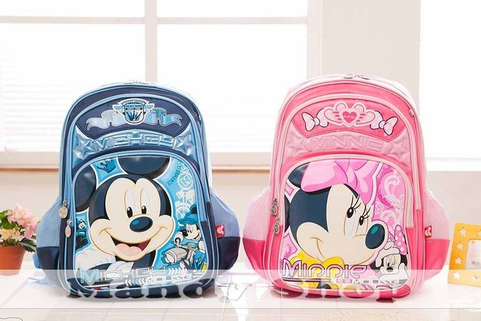 mandyshop【M2538】㊣ Disney / 迪士尼米奇/米妮造型兒童背包 / 書包