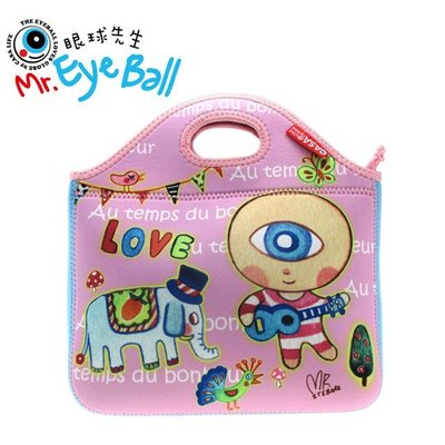 【U-style】Mr. Eye Ball 眼球先生潛水布包-眼球人 /購物袋 野餐袋 便當袋 文具袋