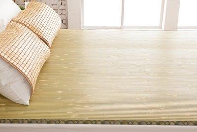 【鹿港竹蓆】11mm 大青竹蓆 5呎×6呎(一般雙人) 100%台灣製造 MIT微笑標章檢驗合格 束帶款