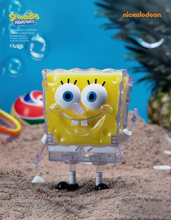 ArtLife @ KIDRIBOT Nickelodeon SpongeBob OG 海綿寶寶 8吋 透明 限定品