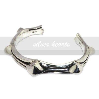 【SILVER HEARTS】Goro's Chrome Hearts 克羅心CUFF WAXED PUNK純銀手環手鍊