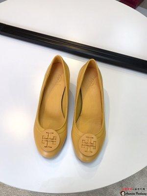 美國大媽代購 TORY BURCH 美國輕奢時尚 意大利羊皮 顏色8 秀氣通勤跟鞋 美國代購