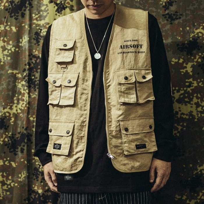 """GHK - """"Abstract Collection"""" Airsoft Vest 戰術背心 卡其-軍工裝 街頭"""