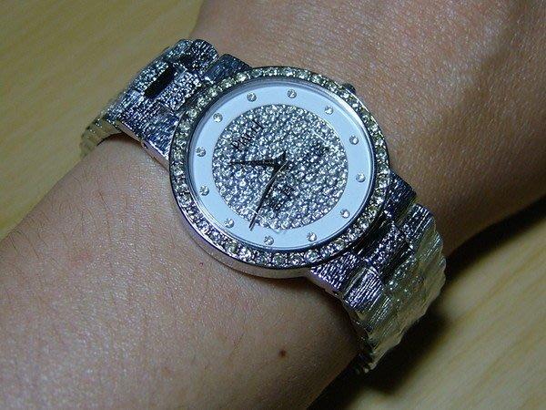 全心全益低價特賣*伊陸發鐘錶百貨*男錶白雲晶鑽手表 *提高身份.地位.增加自信心