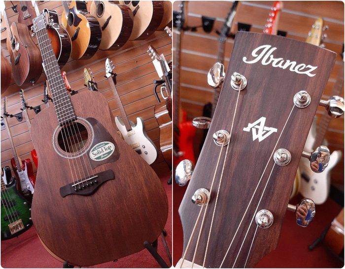 ♪♪學友樂器音響♪♪ Ibanez AW54JR 旅行吉他 38吋 木吉他 奧古曼面單板