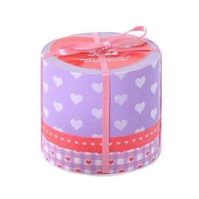 *YOOWOO*A【日本 Mark's Masking Tape 愛心格紋 Heart 可書寫 和紙膠帶 (MKT11) ~ 紫】3捲入
