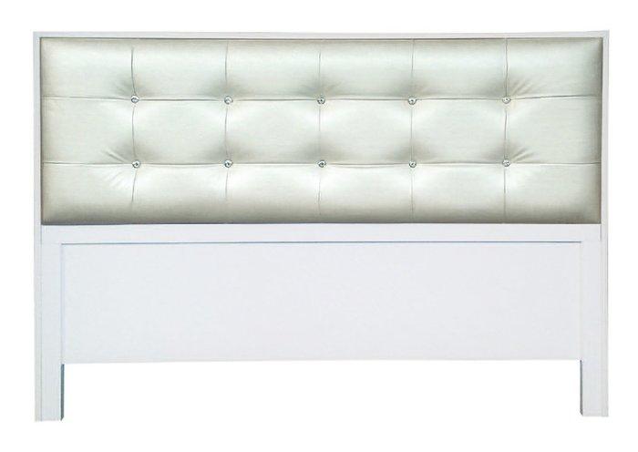 【南洋風休閒傢俱】精選時尚床片   雙人床頭片- 亮亮5尺白色床片  CY106-34