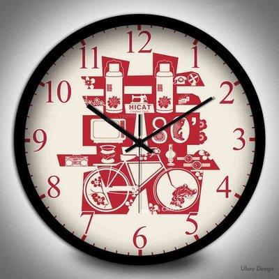 喜喜 囍字框邊掛鐘 30x30cm Uluru Design 黑銀白色 新婚 民宿 圓型時鐘 不鏽鋼 超靜音 中國風設計