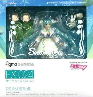 日本正版 figma 雪MIKU 雪初音 初音未來 Snow Bell 可動 模型 公仔 日本代購