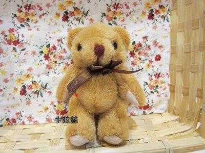 SUPER日式卡通  咖啡色緞帶關節熊 可明天到