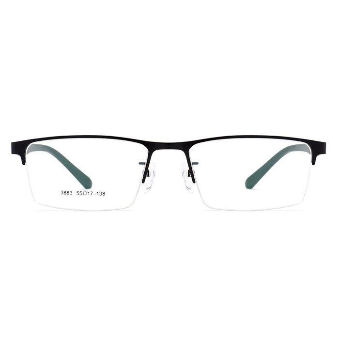 韩版大脸 男士眼睛框tr半框眼镜架