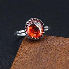 銀革手作 925 純銀 訂造 水晶 包鑲 爪鑲 戒指