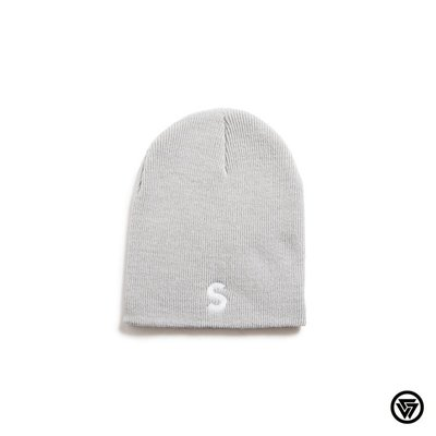 SQUAD 2016 A/W SQUAD S電繡毛帽 SQUAD S Embroidery Knit Beanie 灰色