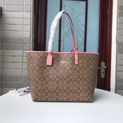 Alina精品代購COACH 寇馳 36658 大容量子母購物袋 PVC拼皮肩背包 子袋可拆卸 顏色4 美國代購