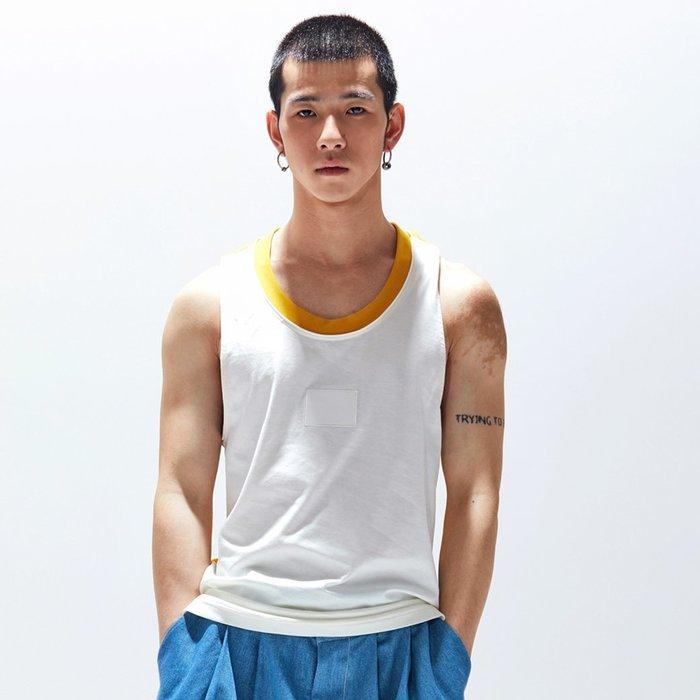 【OTOKO Men's Boutique】固制:長絨棉跨欄背心/白色(台灣獨家代理)