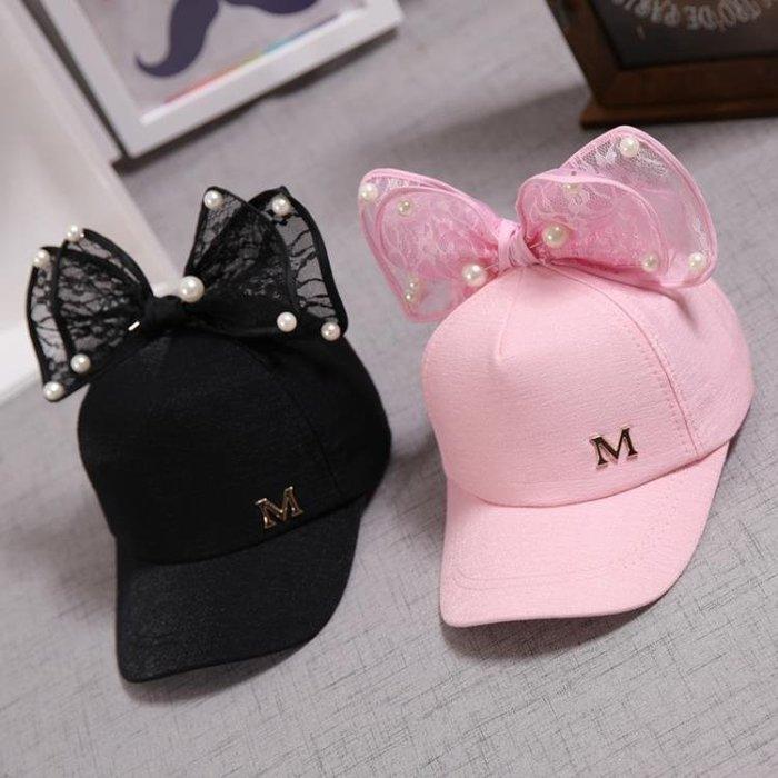 兒童帽子 兒童帽子春秋女童薄款棒球帽公主1-2-4-5-6-8歲小孩鴨舌帽韓版夏