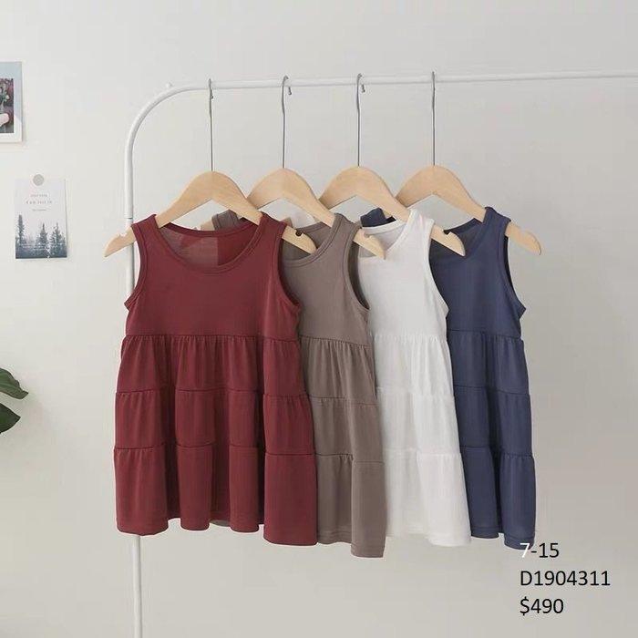 【Girl】 JC BABY 舒適多層次洋裝(共四色) #D1904311