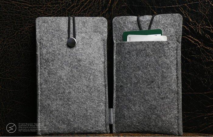 【Seepoo總代】2免運拉繩款Apple iPhone 11 Pro 羊毛氈套 手機殼 手機袋 白灰 保護套保護殼