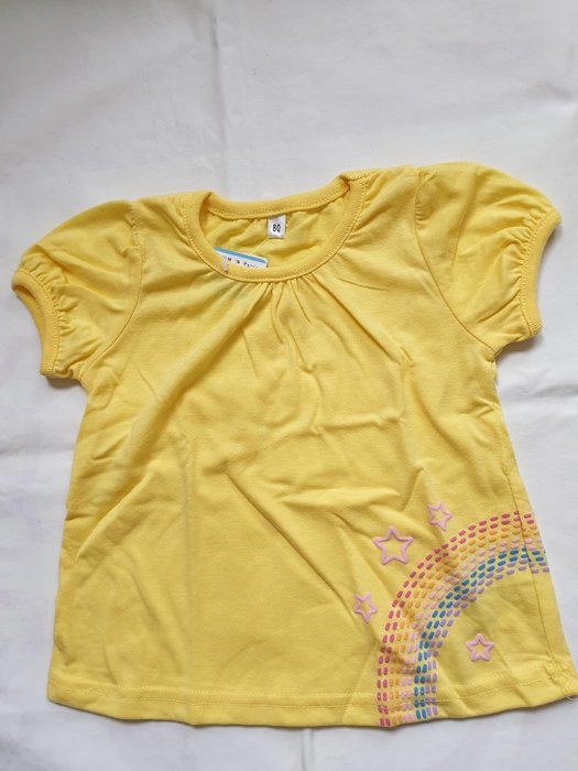 黃色傘狀上衣 80cm (西松屋)
