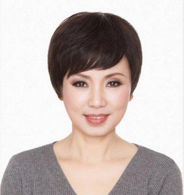 水媚兒假髮7M96HBHH♥新款女士真髮 透氣 經典氣質 短髮♥ 預購 團購批發