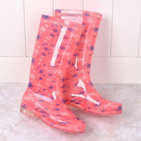 熱銷款 雨鞋 高筒水晶PVC防滑耐磨損水鞋 四季款高幫雨靴 安全鞋—莎芭