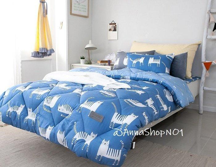 (預購)*安娜小姐日本代購-韓國製 北歐風貓咪圖案暖暖棉被