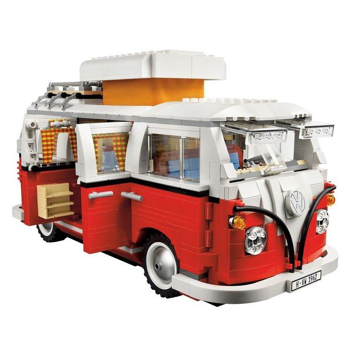 現貨免運【LEGO 樂高】全新正品 益智玩具 積木/ 新版福斯露營車 T1 Volkswagen 10220 另有燈組~