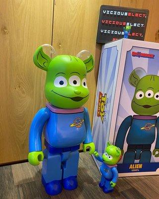 全新現貨 BE@RBRICK TOY STORY 玩具總動員 ALIEN 100% & 400% 三眼怪 巴斯光年 胡迪